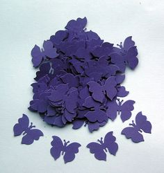 100 Die Cut Butterflies  Deep Purple by SunnyCollectables on Etsy, £1.00