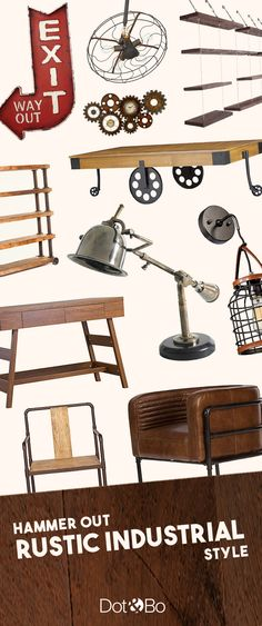 Industrial Rustic Furniture & Décor | Up to 60% Off at dotandbo.com