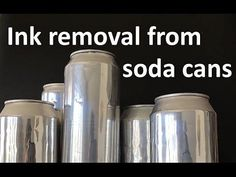 Ink removal from soda can Aluminum Can Crafts, Aluminum Cans, Metal Crafts, Recycled Crafts, Metal Projects, Recycled Clothing, Recycled Fashion, Art Projects, Tin Can Art