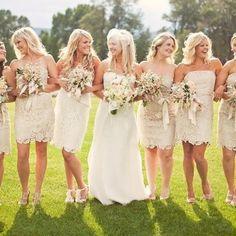 Short bridesmaid dress, lace bridesmaid dress, cheap strapless bridesmaid dress…