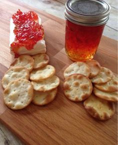 Red Bell Pepper & Chili Pepper Jelly _ is easy to make & it tastes great. To make, you need 3 large red peppers, chile peppers (I used a can) sugar, liquid pectin & vinegar. I just grab a jar & pour it over cream cheese. Add some crackers to the side & you have a fantastic quick dish to take!