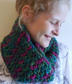 Extra Long Peacock Blue Green Fushia Wool Scarf by TheSpeckledSwan