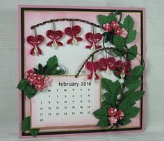 Appel Quilling Garden: February Calendar Page