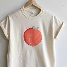 littlealienproducts: Peach T-Shirt by &Morgan  /// $20 Use