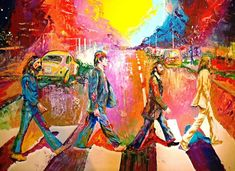 Beatles Abbey Road Painting by Leland Castro - Beatles Abbey Road Fine Art Prints and Posters for Sale Beatles Art, John Lennon Beatles, The Beatles, Stuart Sutcliffe, Ringo Starr, Beatles Abbey Road, Paul Maccartney, George Harrison, Pop Disney
