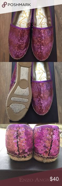 Sparkle espadrilles Pink and purple sequin flats by Enzo  angiolini. Extremely comfortable. Open to offers. Worn 4 times or less. Enzo Angiolini Shoes Espadrilles