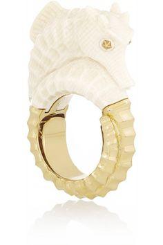 OMG OMG OMG, this RING!!! I neeeeeeeeed THIS ring! BIBI VAN DER VELDEN 18-karat gold fossilized mammoth ring. #mrsapproved
