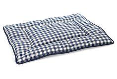 Reversible Check Crate Pad, Navy on OneKingsLane.com