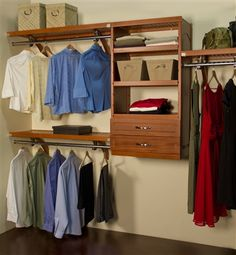 Deep Woodcrest Org. Create Your Own Functional U0026 Attractive Closet With The