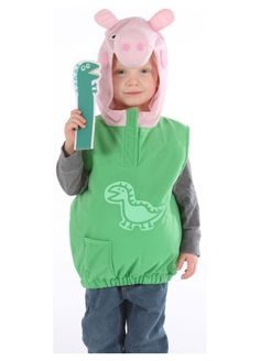 Peppa Pig George Dino Costume For Ages 2-4 Years by VMC  sc 1 st  Pinterest : max and ruby halloween costumes  - Germanpascual.Com