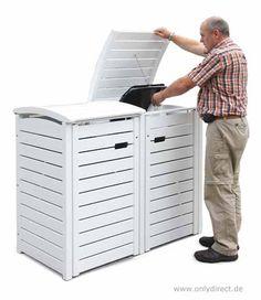 mülltonnenbox müllbox mülltonnengabione 2x240-l-p-gabio, Moderne