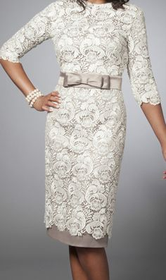 Lev Collection LV0180 Tznius Dress modest Lace Cocktail Dress Ivory | eBay