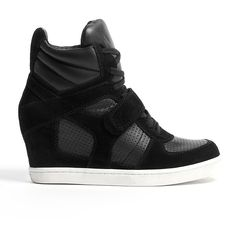 Ash Black Cool Wedge Trainers