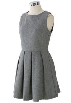 Turmec » grey sleeveless pockets bodycon sweater dress
