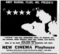 "Four Stars (1967), Andy Warhol. Duration: 25 hours  Four Stars (also known as ****) is a 1967 avant-garde film by Andy Warhol, actually consisting of 25 hours of film. The film documents Factory life during this period, and features a cast of Warhol ""superstars"" including Edie Sedgwick, Ondine, Brigid Berlin, Viva, Gerard Malanga, Ultraviolet, Taylor Mead, Joe Dallesandro (in his film debut), and others."
