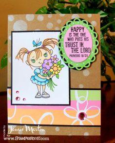 Stamp This- Cute little Kiddo from #Stampendous.  BY  Jamie Martin #cre8time