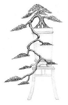 Bonsai Tattoo, Tatoo Tree, Bonsai Wire, Bonsai Styles, Wire Trees, Sketch Design, Ikebana, Nachos, Asian Art
