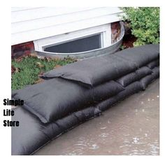 Sandless Sand Bags for flood prevention. No Sand Required, activates with water, expands to full size in minutes, absorbs 4 gallons of water, starts out weighing less than Very good to have around these parts. Camping Survival, Emergency Preparedness, Survival Tips, Survival Skills, Flood Prevention, Flood Barrier, Sand Bag, Outdoor Sofa, Outdoor Decor
