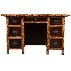 1stdibs - English Bamboo & Leather Desk explore items from 1,700  global dealers at 1stdibs.com
