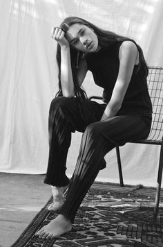 Wide rib knit leggings in a superfine Merino yarn. The leggings have a soft elasticated band encased in a plain knit waistband. The hem has a contrast trim in a Knit Leggings, Rib Knit, Trousers, 2017 Summer, Navy, Knitting, Collection, Trouser Pants, Hale Navy