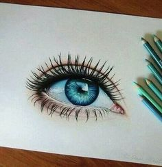 Amazing Learn To Draw Eyes Ideas. Astounding Learn To Draw Eyes Ideas. Amazing Drawings, Colorful Drawings, Amazing Art, Awesome, Realistic Eye Drawing, Drawing Eyes, Eye Drawing Tutorials, Art Tutorials, Pencil Art Drawings