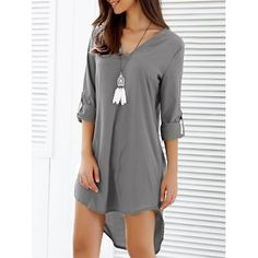 SHARE & Get it FREE   V-Neck Asymmetrical Loose-Fitting DressFor Fashion Lovers only:80,000+ Items·FREE SHIPPING Join Dresslily: Get YOUR $50 NOW!