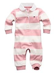 728d534edc88 Tommy Hilfiger Baby Girls Rugby Coverall Tommy Hilfiger Baby