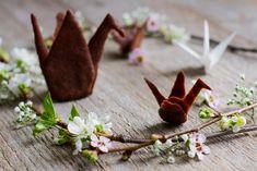 Grue origami en chocolat