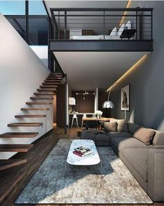 narrow stairs, space saving