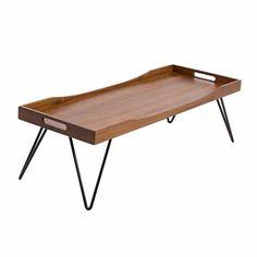 Mesa de centro Tray Table toda em imbuia maciça, pés e em metal, pode ser fabricada em outras dimensões - sob consulta. Fabricação Desmobilia.