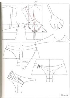underwear and bra pattern set