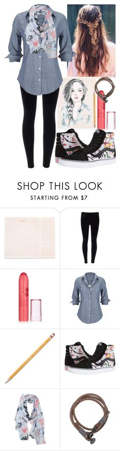 """""""Artist"""" by horselover35125 ❤ liked on Polyvore featuring Sugar Paper, Revlon, Silver Jeans Co., Paper Mate, Vans, DC Comics and casualoutfit"""