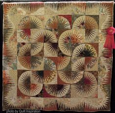 Japanese Fans by Judith Salb.  2nd place - Pieced Medium. 2016 AZQG.  Design by Judy Niemeyer. Photo by Quilt Inspiration.