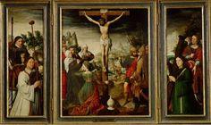 ПЕТЕР ПОУРБУС (PIETER POURBUS) (1523—1584) Распятие (1559, Kunsthistorisches Museum, Gemäldegalerie)