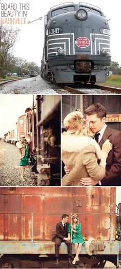 1940's Vintage Train Photo Shoots