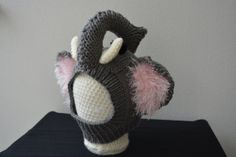 Vegan Elephant Baby/Child Balaclava Hat That Babies by BuddhaTique