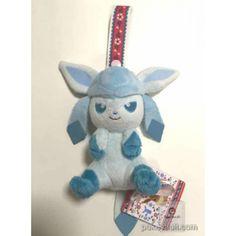 Pokemon 2015 Banpresto UFO Game Catcher Prize I Love Eievui Series Glaceon Plush Toy With Strap