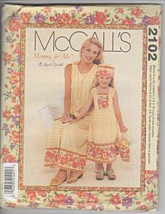 abeb8d6855 McCall s Pattern Mommy And Me By April Cornell