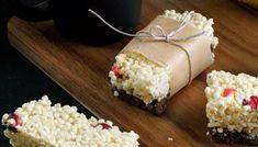 Batoniki z kaszy jaglanej i płatków kukurydzianych Krispie Treats, Rice Krispies, Desserts, Food, Tailgate Desserts, Deserts, Essen, Postres, Meals