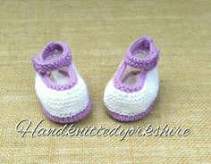 Hand Knitted Baby Shoes Crib Shoes by HandKnittedYorkshire on Etsy
