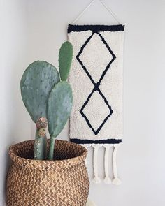 Hangin it up! See you tomorrow ✨ {wall hanging in store & online} 🖤🌵🖱 Cactus Wall Art, Cactus Print, Ferm Living Wallpaper, Cactus Photography, Lorena Canals, Digital Print, Washable Rugs, Modern Prints, Beige