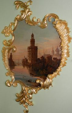 Rococo door panel