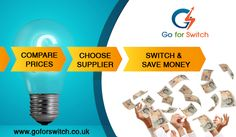 Compare Gas & Electricity Prices and Switch Energy Supplier to save money on Energy Bills.