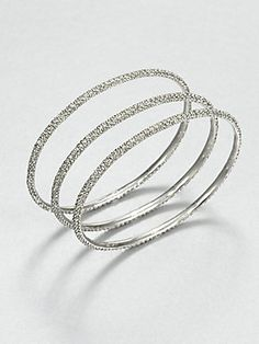 A great look for a great price. ABS by Allen Schwartz Jewelry Pav? Bangle Bracelet Set