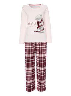 Womens Pink Tatty Teddy Gift Pyjamas | Tu clothing
