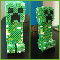 3d creeper that i made out of perler beads
