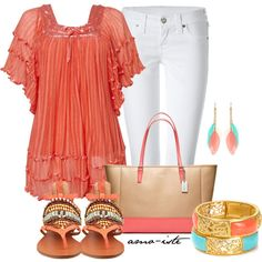 Coral Spring Style ...that ruffled top!!