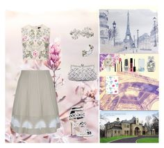 """""""Dreams In Reality"""" by oksana-kolesnyk ❤ liked on Polyvore featuring Carvela, D.Exterior, Graham & Brown, OTM, Needle & Thread, Clarins, Casetify, Monsoon, Kate Spade and OPI"""