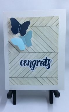 A personal favorite from my Etsy shop https://www.etsy.com/listing/507812385/congrats-butterfly-card