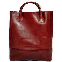 Libero Ferrero Oxblood Raw Tote ($495) ❤ liked on Polyvore featuring bags, handbags, tote bags, totes, accessories, bolsas, women, leather tote bags, red leather tote and red leather handbag